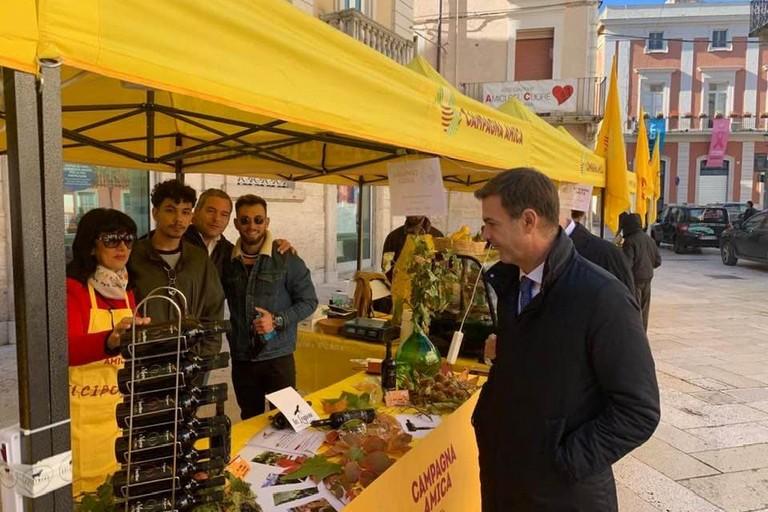 Mercato Campagna Amica con Prandini presidente Coldiretti