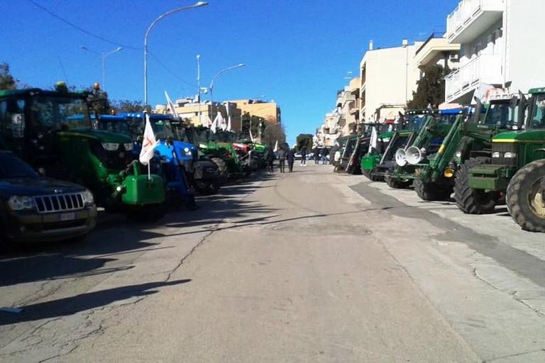 Protesta con i trattori