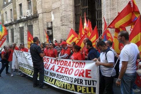 protesta natuzzi roma