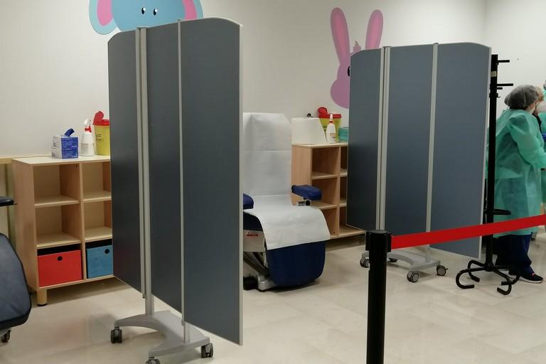Vaccinazione all'Ospedale della Murgia